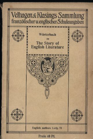 Bube,Johanna  Wörterbuch zu The Story of English Literature