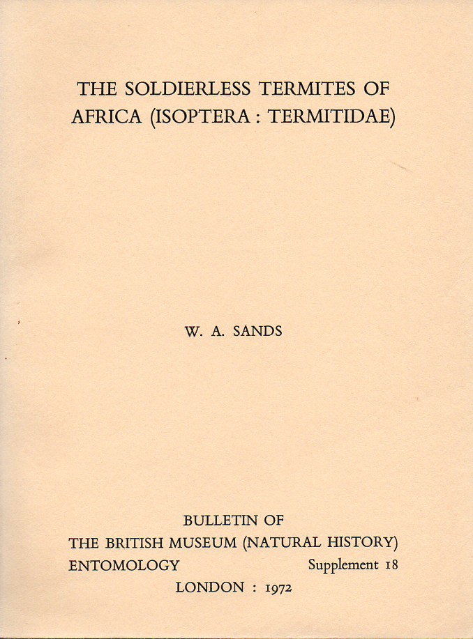 Sands,W.A.  The soldierless termites of Africa (Isoptera: Termitidae)