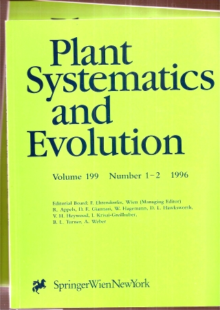 Plant Systematics and Evolution  Plant Systematics and Evolution Volume 199 1996, Number 1/2 und 3/4