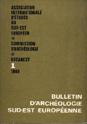 Bulletin d´Archeologie Sud - Est Europenne 1  Bucarest.UNESCO 1969.