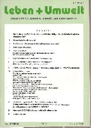 Leben + Umwelt  Leben + Umwelt 19.Jahrgang 1982, Nr. 1 bis 6 (6 Hefte)