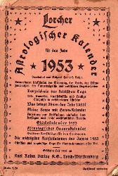 Lorcher Astrologischer Kalender  1953
