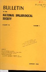 Bulletin of the National Speleological Society  Volume 26.1964.Number 1,3 und 4