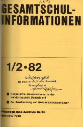Gesamtschulinformationen  Gesamtschulinformationen 15.Jahrgang 1983, Heft 1/2 bis 3/4 (1 Band)