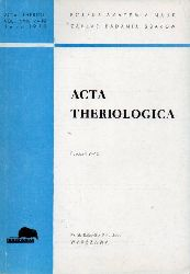 Acta Theriologica  Acta Theriologica Volume XXIII 1978, 1-38. (4 Hefte)