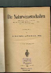 Die Naturwissenschaften  Die Naturwissenschaften 7.Jahrgang 1919