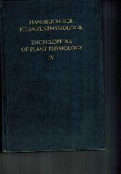 Ruhland,W. (Hsg.)  Handbuch der Pflanzenphysiologie Band IV: Die mineralische