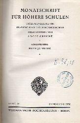 Monatschrift für höhere Schulen  Monatschrift für höhere Schulen 29.Band 1930