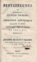 Dathio,Joanne Augusto  Pentateuchus ex Recensione Textus Hebraei et Versionum Antiquarium