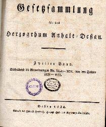 Anhalt-Deßau: Gesetzsammlung für das  Großherzogthum Anhalt Deßau.2.Band,enthaltend die Verordnungen