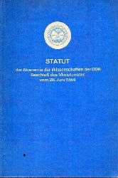 Akademie der Wissenschaften der DDR  Statut der Akademie