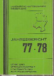 Landwirtschaftskammer Weser-Ems  Jahresbericht 77-78