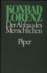 Lorenz,Konrad  Der Abbau des Menschlichen