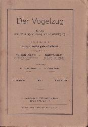 Der Vogelzug  4.Jahrgang 1933.Heft 1 bis 4 (4 Hefte)