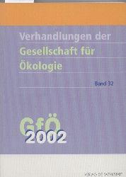Gesellschaft für Ökologie GfÖ  Gesellschaft für Ökologie Verhandlungen Band 32