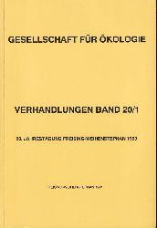 Gesellschaft für Ökologie  GfÖ Verhandlungen Band20/1 20.Jahrestagung Freising-Weihenstephan 1990