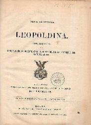 Leopoldina  Leopoldina 26.Jahrgang 1890 Heft Nr.1-24 (1 Band)