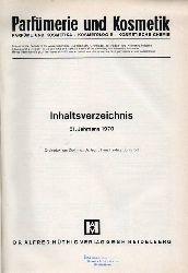 Parfümerie und Kosmetik  Parfümerie und Kosmetik 51.Jahrgang 1970