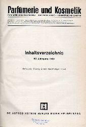 Parfümerie und Kosmetik  Parfümerie und Kosmetik 50.Jahrgang 1969