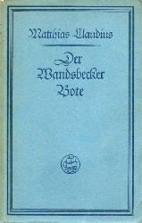 Claudius,Matthias  Der Wandsbecker Bote