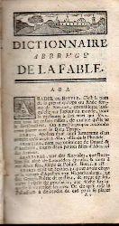 Chompre,M.  Dictionnaire Abrege de la Fable