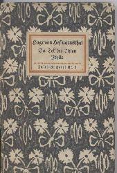 Hofmannsthal,Hugo von  Der Tod des Tizian.Idylle