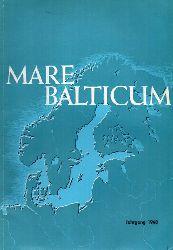 Mare Balticum  Jahrgang 1968.Ein Heft