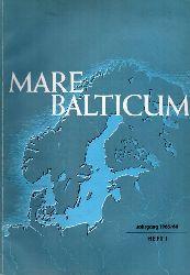 Mare Balticum  Jahrgang 1965/66.Heft 1 und Jahrgang 1969.Heft 1