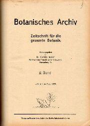 Mez,Carl (Hsg.)  Botanisches Archiv V. und VI. Band 1924 (1 Buch)