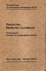 Reichsverband für das Deutsche Hundewesen(RDH)  Deutsches Foxterrier-Zuchtbuch.Band XXXI.Nr.60701-68000