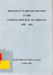 Kettenacker,Lothar and Wolfgang J.Mommsen  Research on British History in the Federal Republic of Germany 1978-