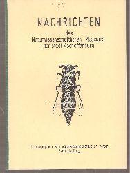 Naturwissenschaftlicher Verein Aschaffenburg  Nachrichten Heft Nr.85.August 1977