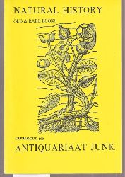 Antiquariaat Junk  Old & Rare Books on Natural History