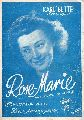 Bette,Karl und W. Prangenberg  Rose-Marie wann kommst du wieder ? Klavier-Akkordeon-Ausgabe