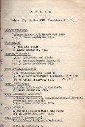 Chess  Chess Volume 19, Number 218 November 1953 und Ergänzungen bis 1961