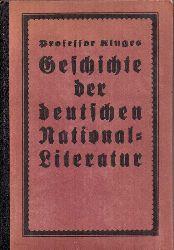 Besser,Reinhold+Otto Oertel  Hermann Kluges Geschichte der deutschen National-Literatur