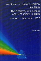 Akademie der Wissenschaften zu Berlin(Hsg.)  Jahrbuch 1987