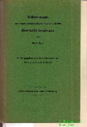 Baur,Karl  Erläuterungen zur vegetationskundlichen Karte 1:25 000 Blatt 6526