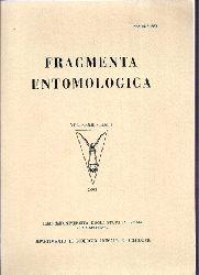 Fragmenta Entomologica  Volume XXXIII - Fasc. 1 und 2. 2001 (2 Bände)