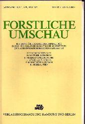 Forstliche Umschau  Jahrgang 30. 1987 - Heft 1 bis 4 (4 Hefte)