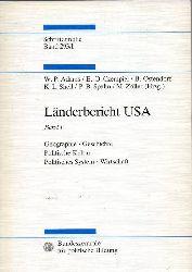 Adams,W.P.+E.-O.Czempiel+weitere (Hsg.)  Länderbericht USA.Band 1,2 und separate Kartentasche(Karten 1 bis 58