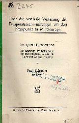 Schröder,Paul  Über die vertikale Verteilung der Temperaturschwankungen um den