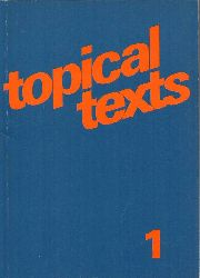 Becker,Hans-Wolf+Otto Laudien  Topical Texts 1
