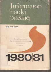 Centrum Informacji Naukowej  Informator Nauki Polskiej 1980/81
