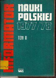 Centrum Informacji Naukowej  Informator Nauki Polskiej 1977/78 Tome II