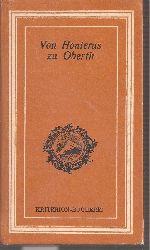 Barth,Hans (Hsg.)  Von Honterus zu Oberth