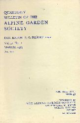 Alpine Garden Society  Quarterly Bulletin.Vol.51.1983.No.1 bis 4 (Nr.211 bis 214) 4 Hefte