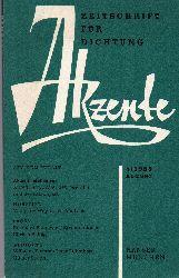 Akzente  Zeitschrift für Dichtung.Heft 4.August 1959