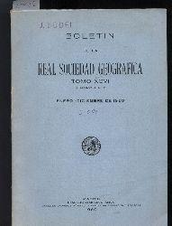 Real Sociedad Geografica  Boletin Tomo XCVI. Numeros 1 a 12. Enero Diciembre de 1960
