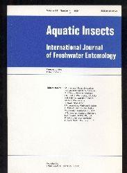 Aquatic insects  Aquatic insects Vol. 11 Number 1-4, 1989 (4 Hefte)